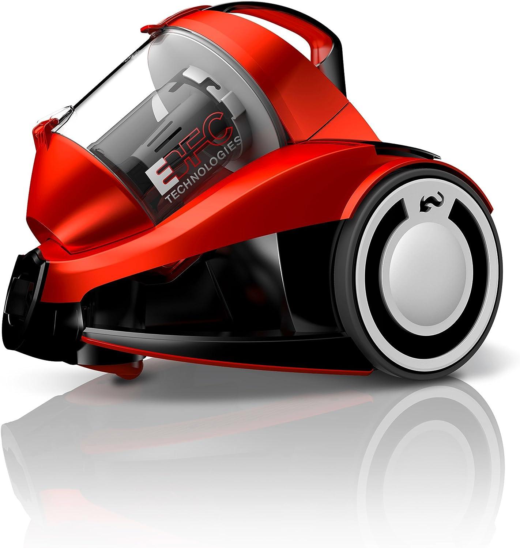 Dirt Devil Rebel 24 HFC Aspirador sin bolsa, eco, ciclónico, 700 W, 1.8 litros, 79 Decibelios, Rojo: Amazon.es: Hogar