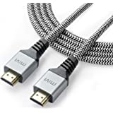 Mivi 2Mtr High Speed HDMI Cable V2.0- 24K Gold Plated Connectors, 28AWG Braided, Ethernet, Audio Return, Support 3D,4K,2160p,1080p,ARC,HEC,HDCP (Deep)