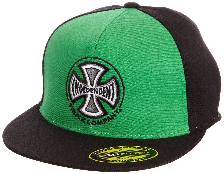 Independent - Gorra para hombre, talla M, color negro/kelly green ...