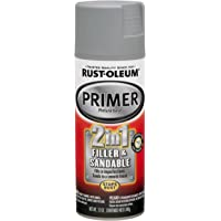 $21 » Rust-Oleum 260510 Automotive 2 In 1 Filler and Sandable Primer Spray Paint, 12 oz, Gray