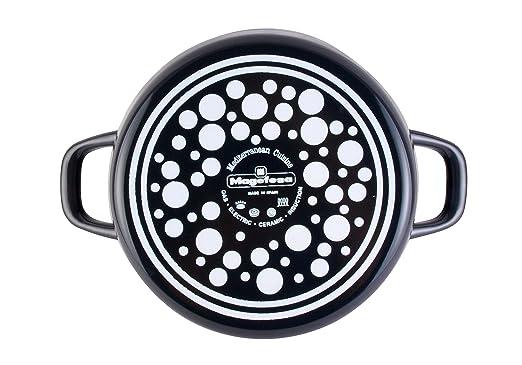 Magefesa Dolomiti Tartera 28 cm de Acero esmaltado, Antiadherente Multicapa Efecto Piedra, Color Gris Exterior. Apta para Todo Tipo de cocinas, ...
