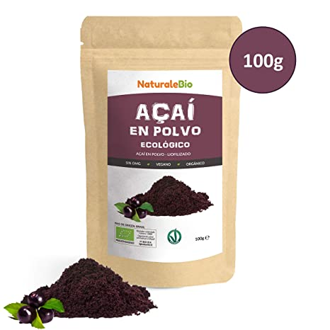 Bayas de Acai Orgánico en Polvo [Freeze - Dried] 100g. Pure ...