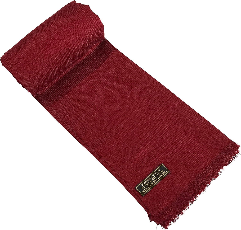 Brown Fringe Solid Colour Design Shawl Scarf Wrap Stole Throw Pashmina Pashminas CJ Apparel NEW