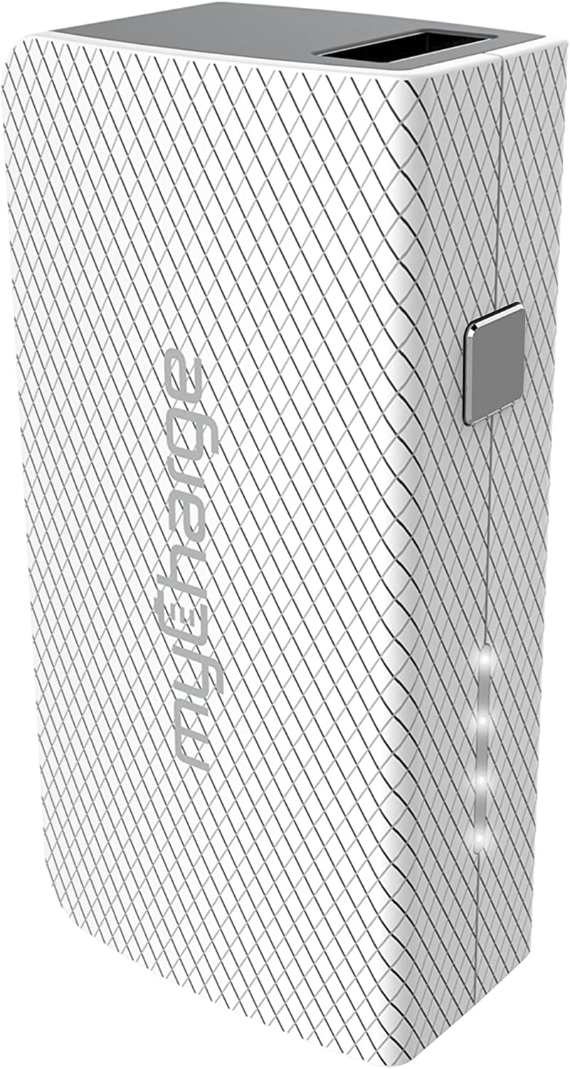 myCharge Portable Charger - AmpMini 2600 mAh Power Bank Ultra Slim External Battery Pack | Small, Light Compact Cell Phone Charger Backup for Apple iPhone, iPad & Android for Samsung Wireless Galaxy