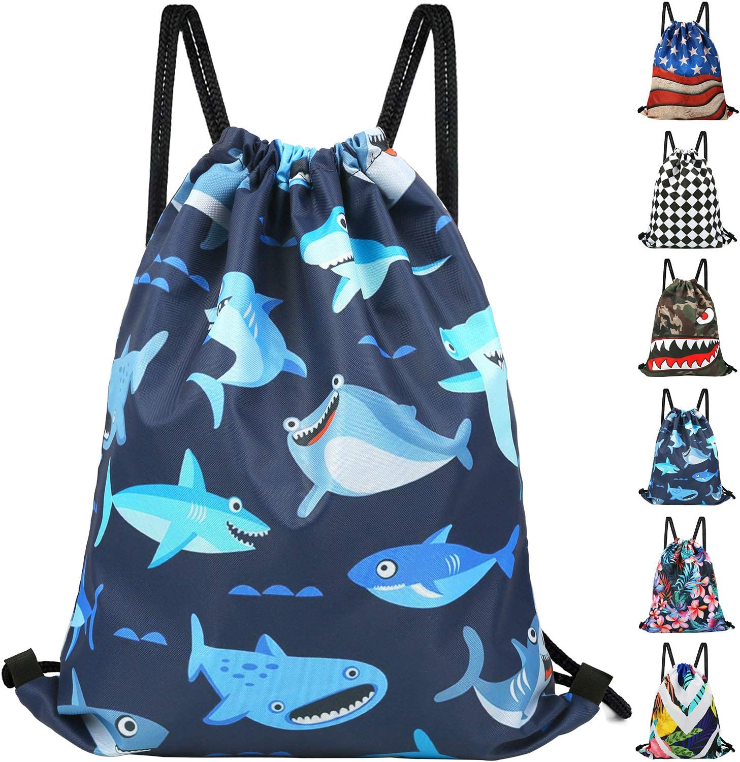 Drawstring Backpack Bag for Women Kids - Great for Yoga, Travel, Hiking, Beach Bags
