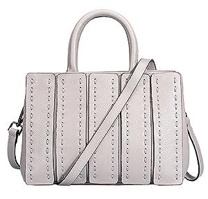 Valenla Handbags Womens Cowhide Genuine Leather Handbags Shoulder Bags Black