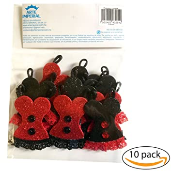 cute bachelorette corset pin set 10 pieces red black corset decorations