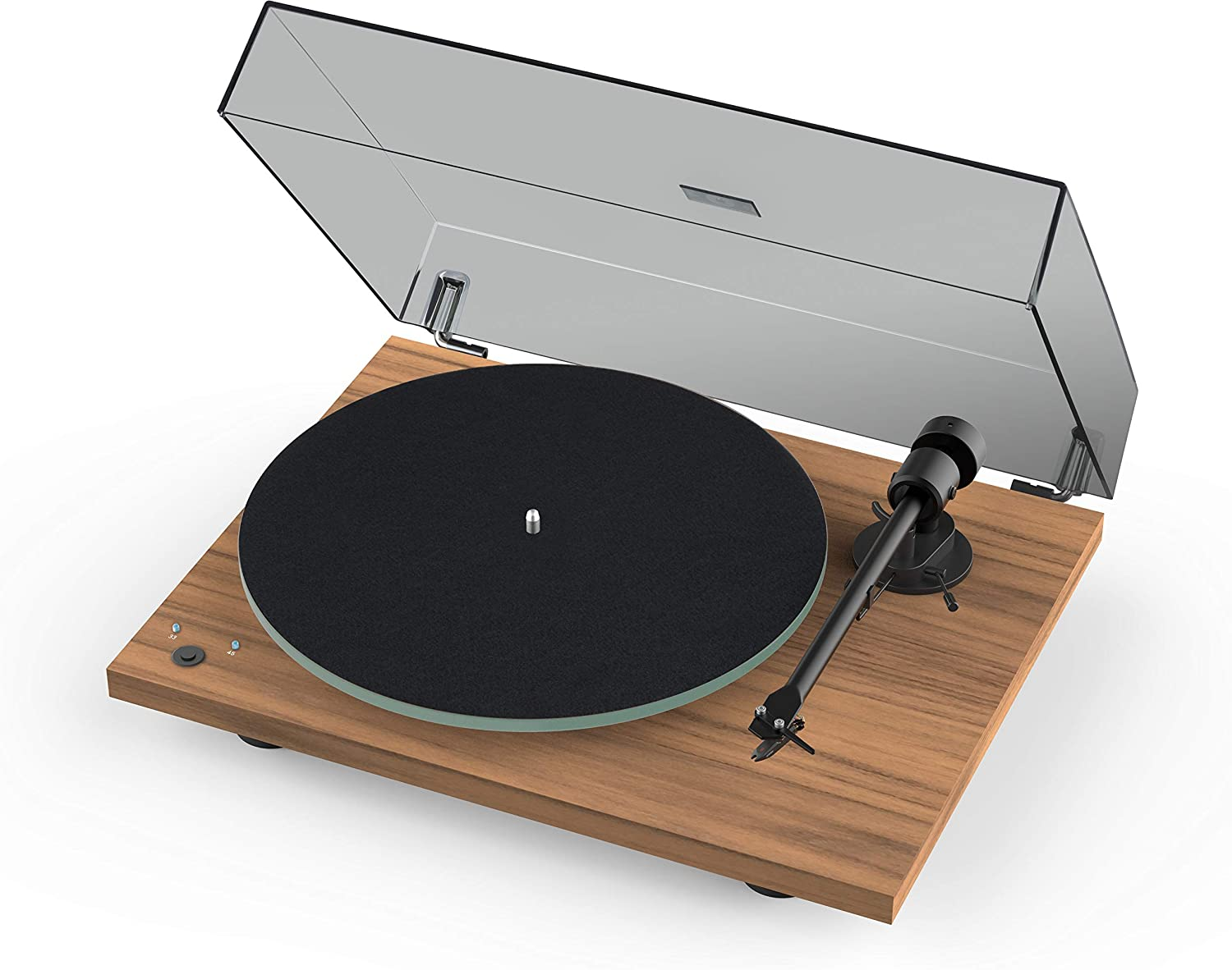 Pro-Ject T1 Phono SB Turntable with Built-in Preamp and Electronic Speed Change (Satin Walnut )