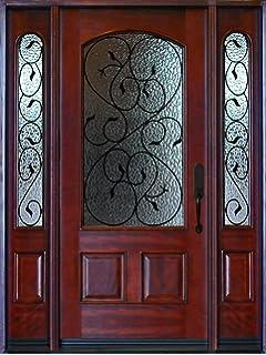 Mahogany Exterior Front Wood Double Entry Door 705B 30X80X2