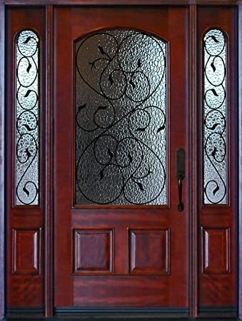 front door with sidelightExterior Front Entry Valencia Deluxe Wood Door with Sidelights
