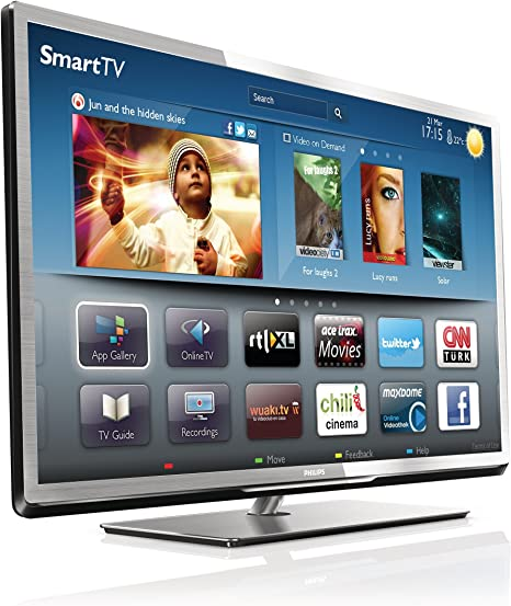 Philips 40PFL5507M - Televisor LED 40 pulgadas, full HD, Wifi, Smart TV, color plata (importado): Amazon.es: Electrónica