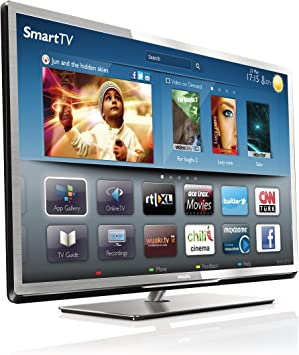 Philips 40PFL5507M - Televisor LED 40 pulgadas, full HD, Wifi, Smart TV, color plata (importado): Amazon.es: Electrónica