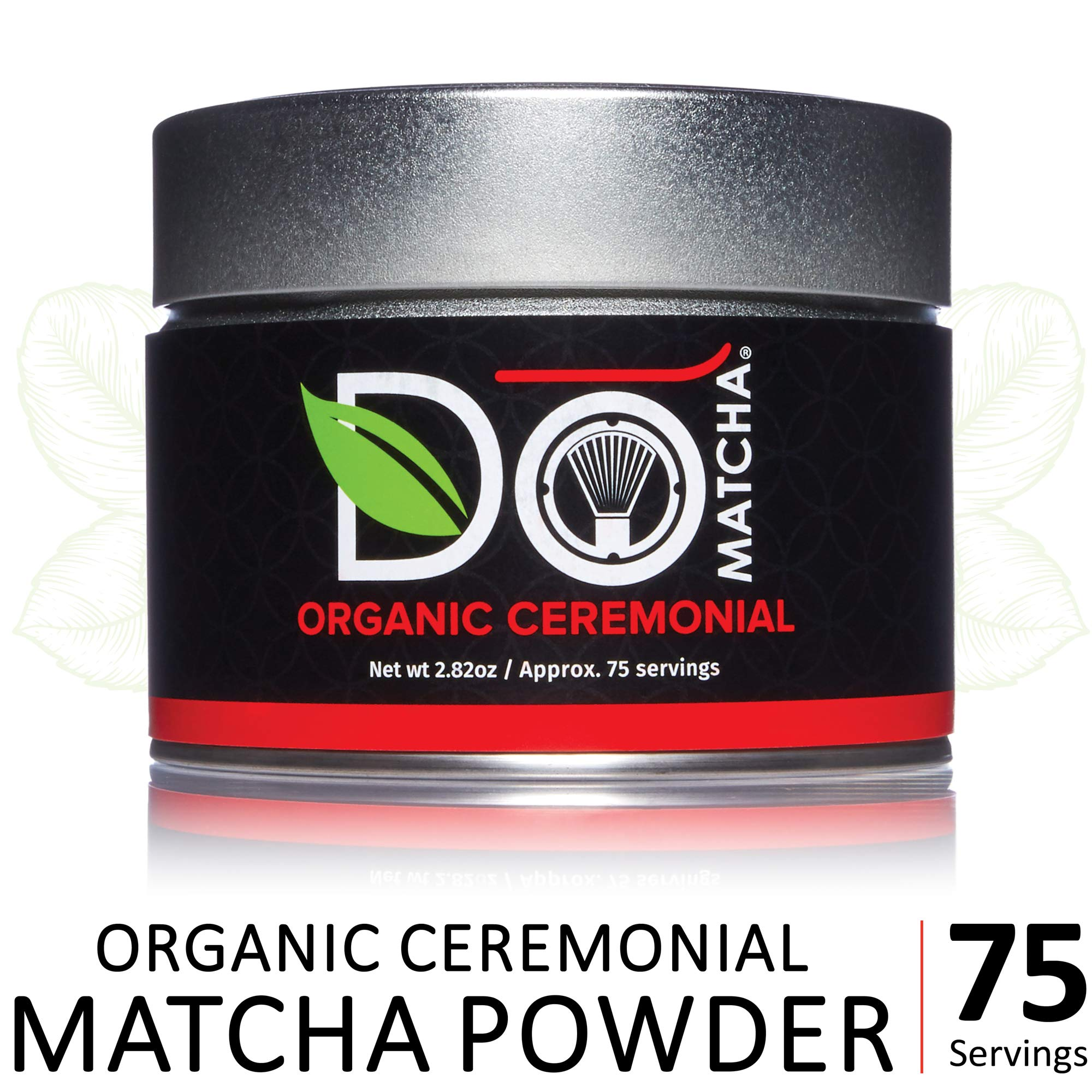 DoMatcha - Organic Ceremonial Matcha Powder, Natural Source of Antioxidants, Caffeine, and L-Theanine, Promotes Focus and Relaxation, 75 Servings (2.82 oz)