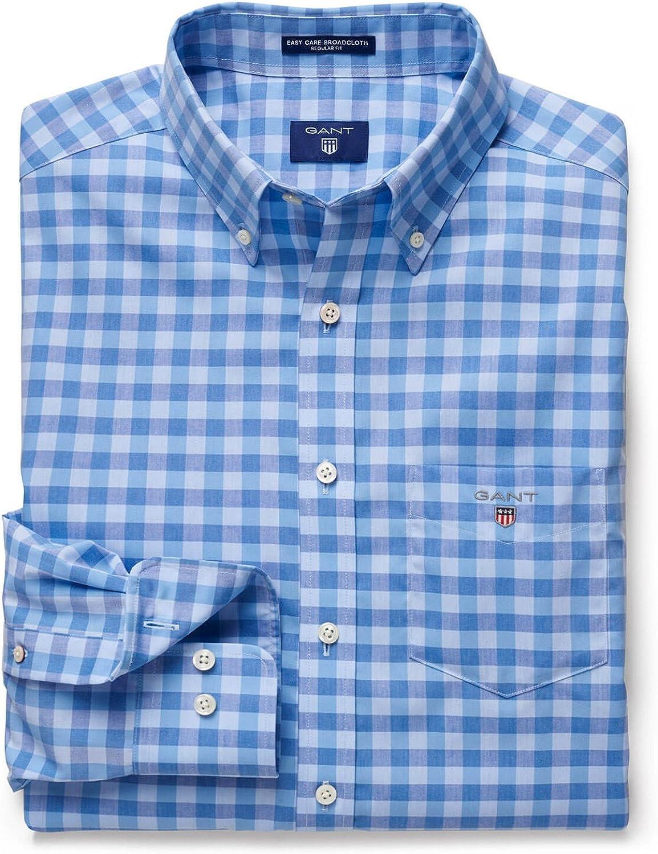 GANT Camisa Cuadros Azul XL: Amazon.es: Ropa y accesorios