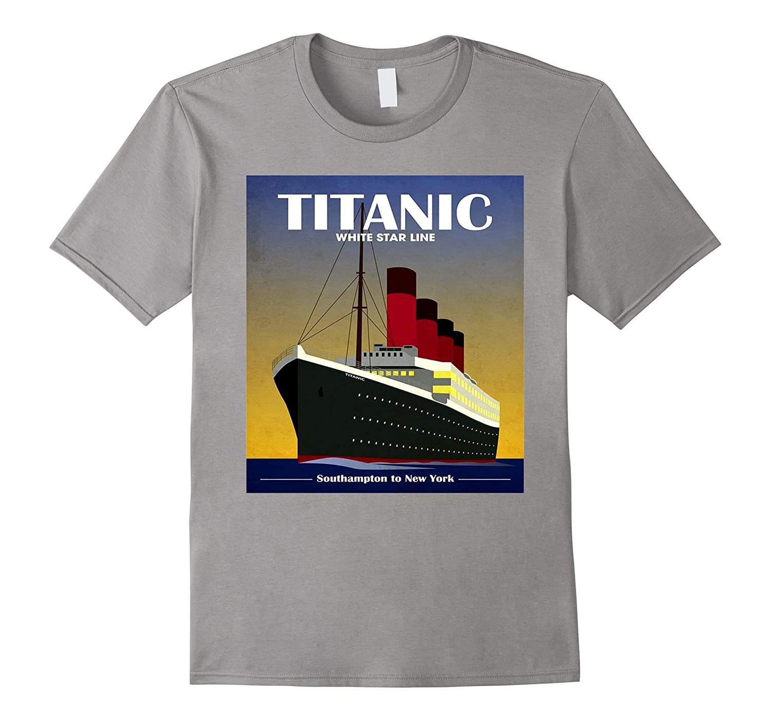 Titanic White Star Line Vintage Poster Tee Shirt-TH