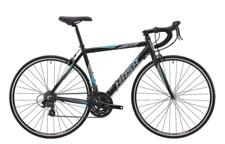HASA(ハサ) R5 ブラック+ブルー フレームサイズ460mm シマノTOURNEY21speed ロードバイク デュアルコントロールレバー装備 前後キャリパーブレーキ 前後クイックリリース アナトミックシャロードロップハンドル 10.4kg 80502-6346 ブラック+ブルー B00WW4HGUO   500