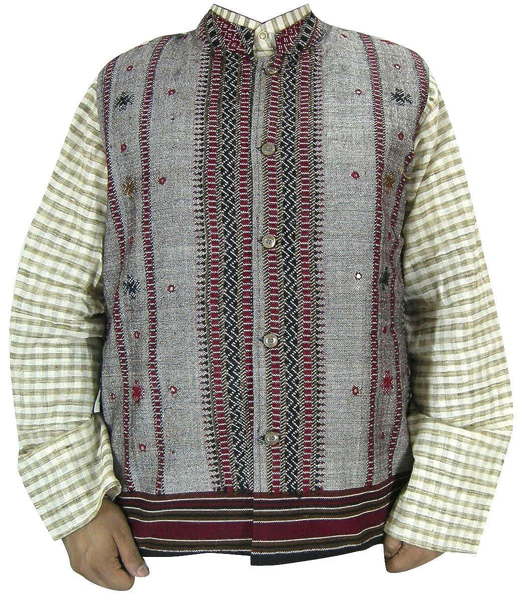 Indische Schotten KleidungGrau Outerwear Weste Herren ChrdtsQ