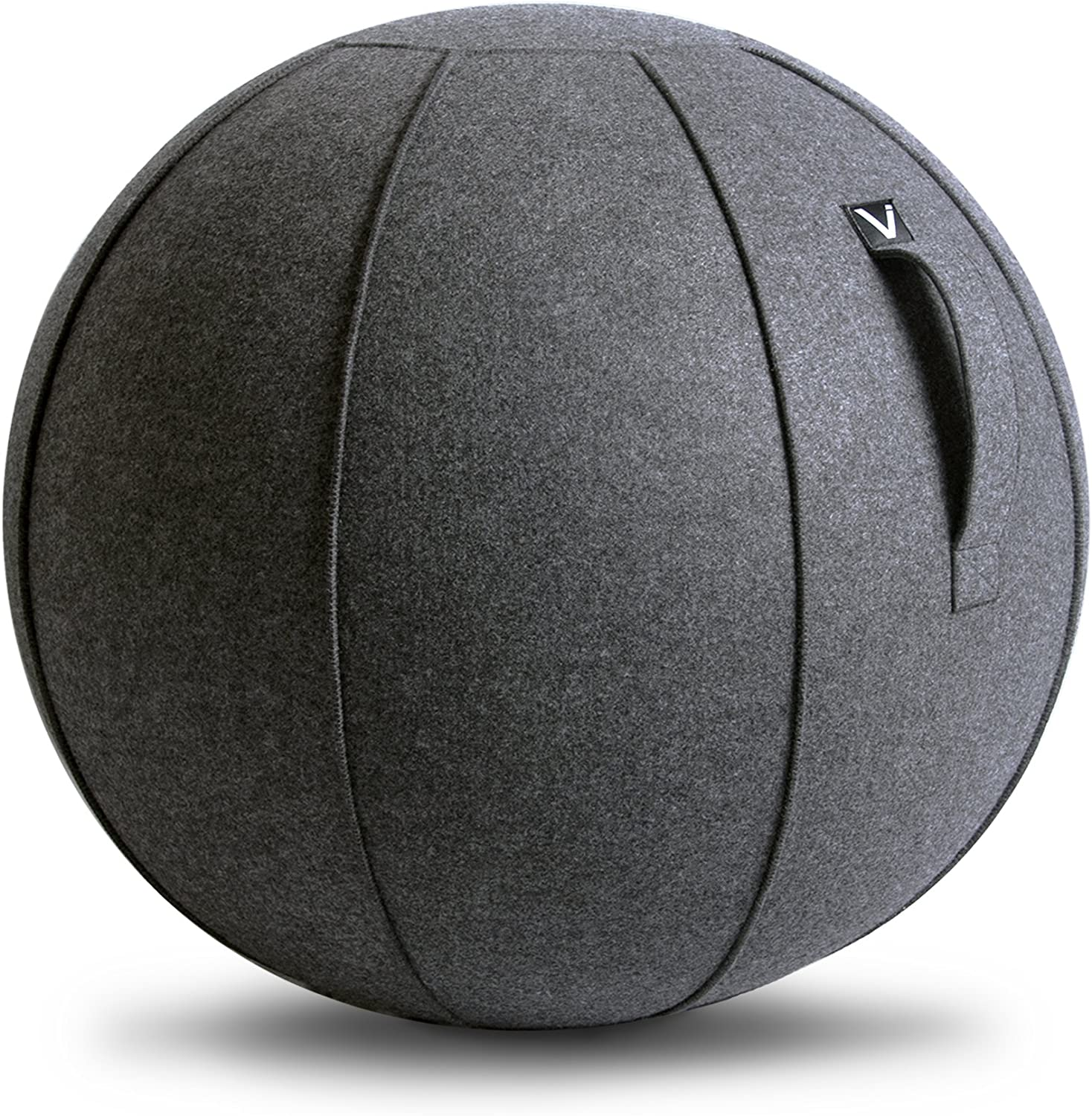 Vivora Luno - Sitting Ball Chair for Office and Home, Lightweight Self-Standing Ergonomic Posture Activating Exercise Ball Solution with Handle & Cover, Classroom & Yoga