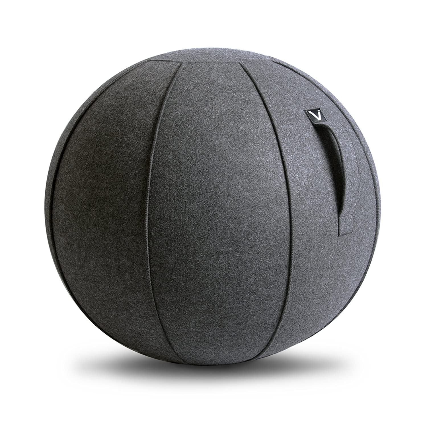 Classroom /& Yoga Lightweight Self-Standing Ergonomic Posture Activating Exercise Ball Solution with Handle /& Cover Vivora Luno Sitting Ball Chair for Office and Home