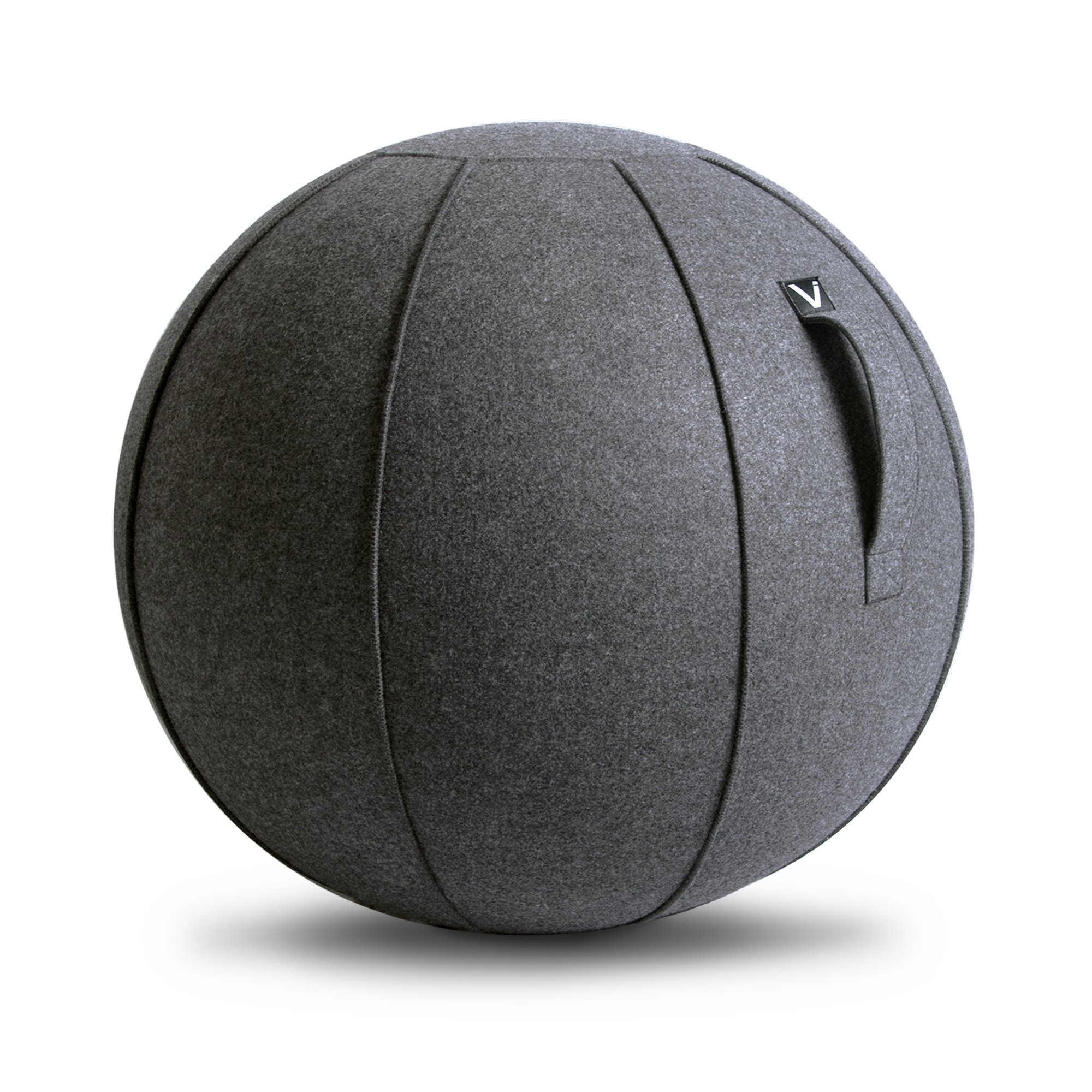 Vivora Luno - Self-Standing Sitting Ball Chair for Home, Office, Yoga, Exercise, Stability, Fitness, and Birthing Ball, with Pump and Handle, Base Ring Not Needed