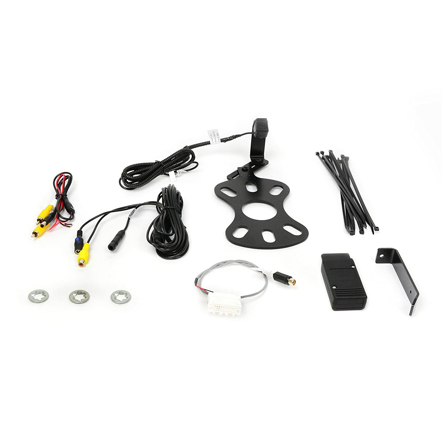 Brandmotion 9002-8847 Jeep Wrangler Adjustable Rear Vision System for Factory Display Radios 2007-Current