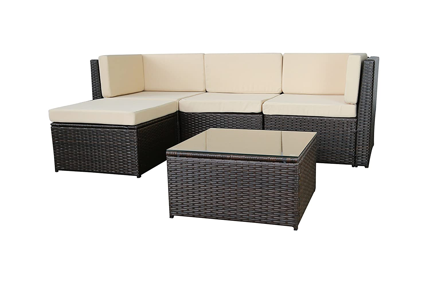 gartenfreude gartenm bel lounge gartenset garnitur sitzgruppe polyrattan 13 teilig. Black Bedroom Furniture Sets. Home Design Ideas