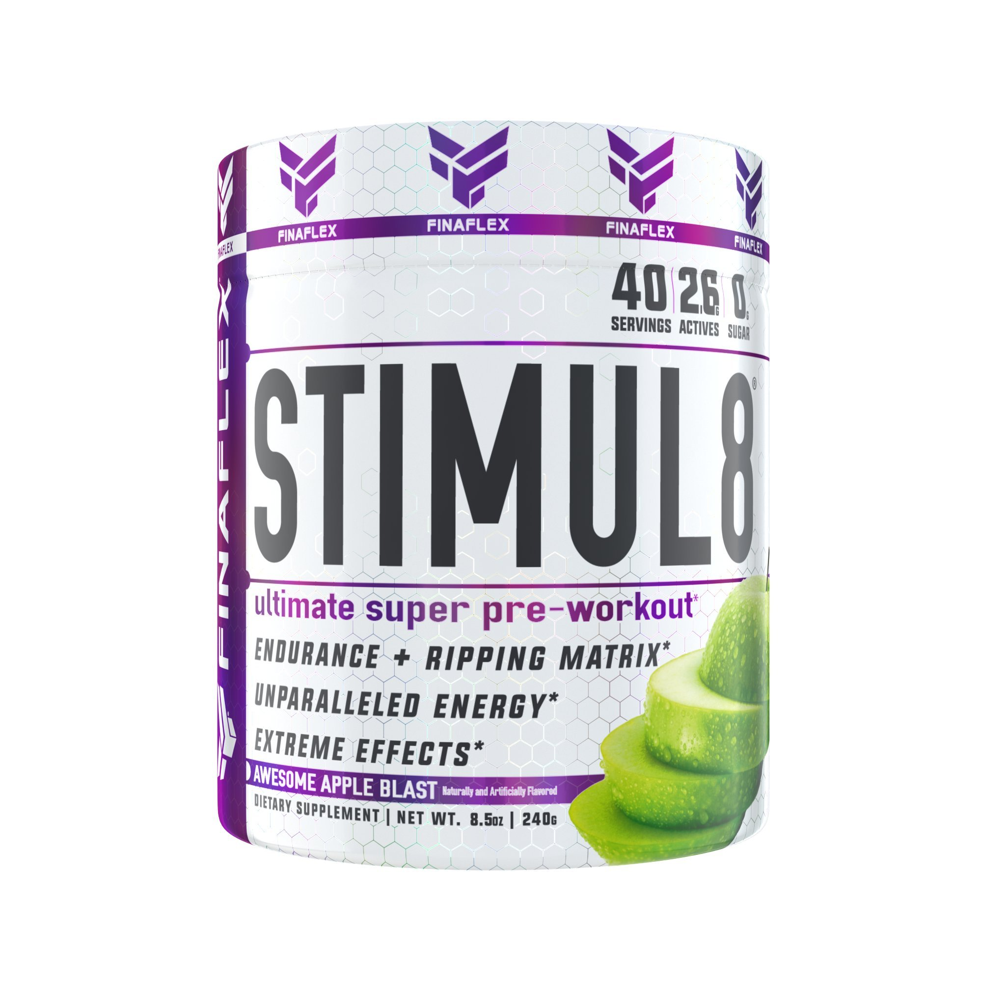 STIMUL8, Original Super Pre-Workout for Men and Women, Stimulate Workouts Like Never Before, Unparalleled Energy, Extreme Effects, Ultimate Preworkout, 40 Servings (Awesome Apple Blast)