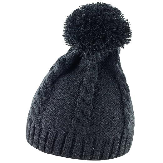 Result Ladies Womens Cable Knit Pom Pom Winter Beanie Hat (One Size) ( f5b7ca537cc