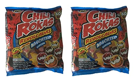 Amazon.com : Chili Rokas Revolcadas Assorted Flavored Candy, 60 Count Bag (Pack of 2) : Grocery & Gourmet Food
