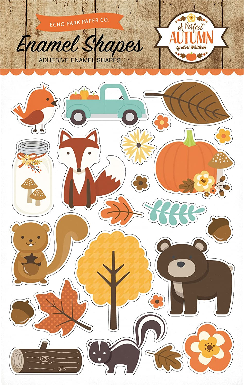 Echo Park Paper Company APA132061 A Perfect Autumn Enamel Shapes