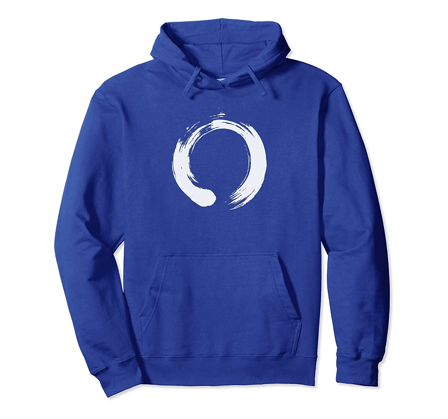 Enso Zen Buddhism Artistic Brush Stroke Hoodie-alottee gift