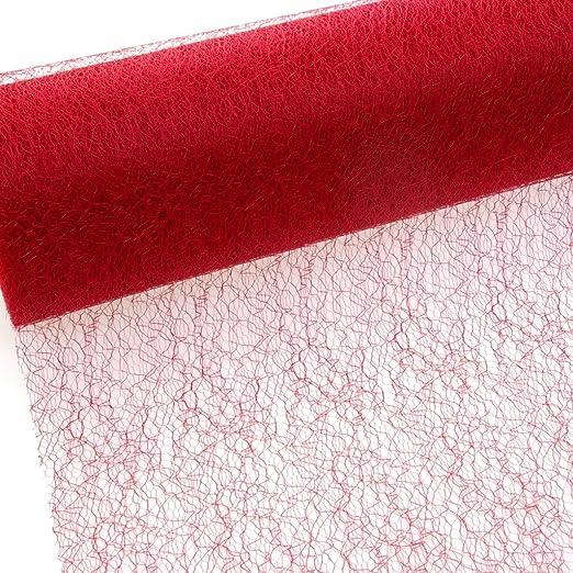 Spiderweb Telaraña Camino de mesa - rojo - 30 cm papel de 25 m ...