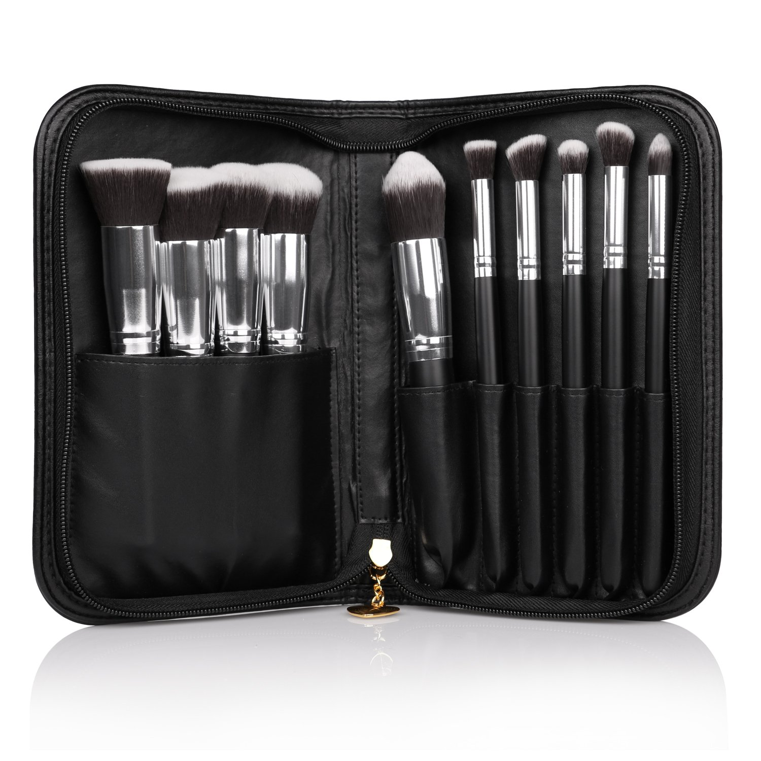 DUcare 10Pieces Professional Makeup Brush Set with Cosmetics Case by DUcare (Image #1)