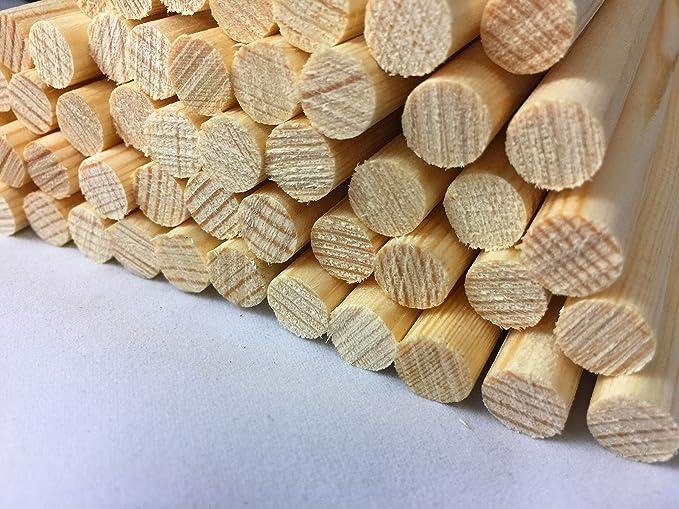 Trimits Bastones de madera 50 x 2 mm natural