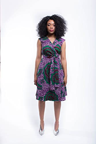 4e76e12b1b Image Unavailable. Image not available for. Color  Women s African Print  Wrap Dress ...