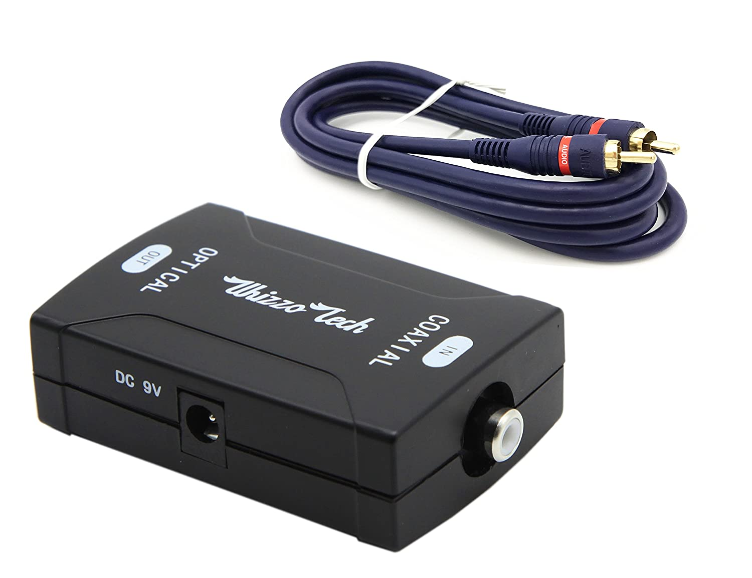 Amazon.com: Whizzotech Coaxial to Toslink Optical Digital Audio Converter 24bit/192K HD sampling with Digital Audio Coax Cable (Coaxial to Optical & Cable): ...