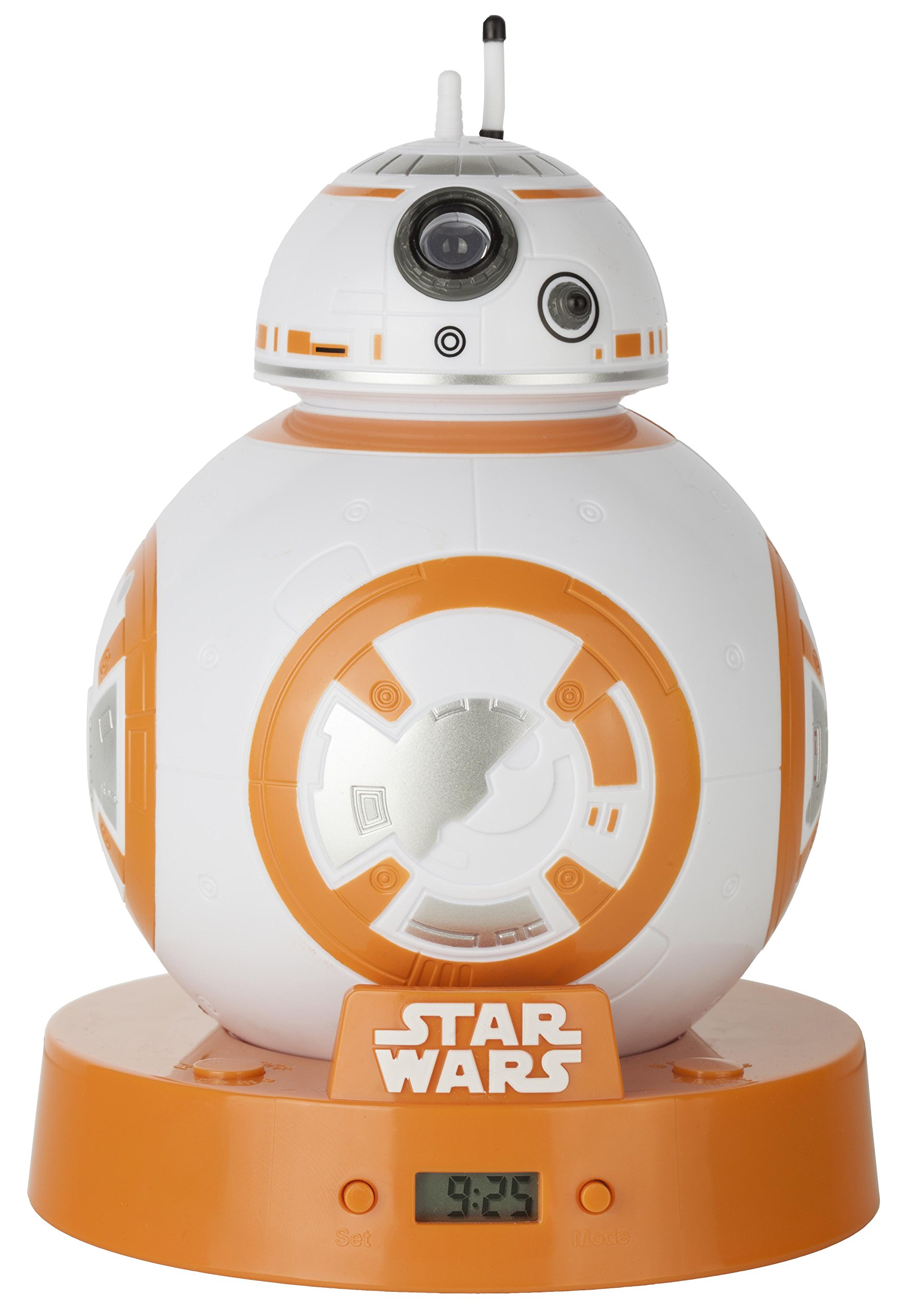 Star Wars BB8 Projection Alarm Clock, White/Orange, 12.5 x 12.5 x 17.5 cm by Star Wars