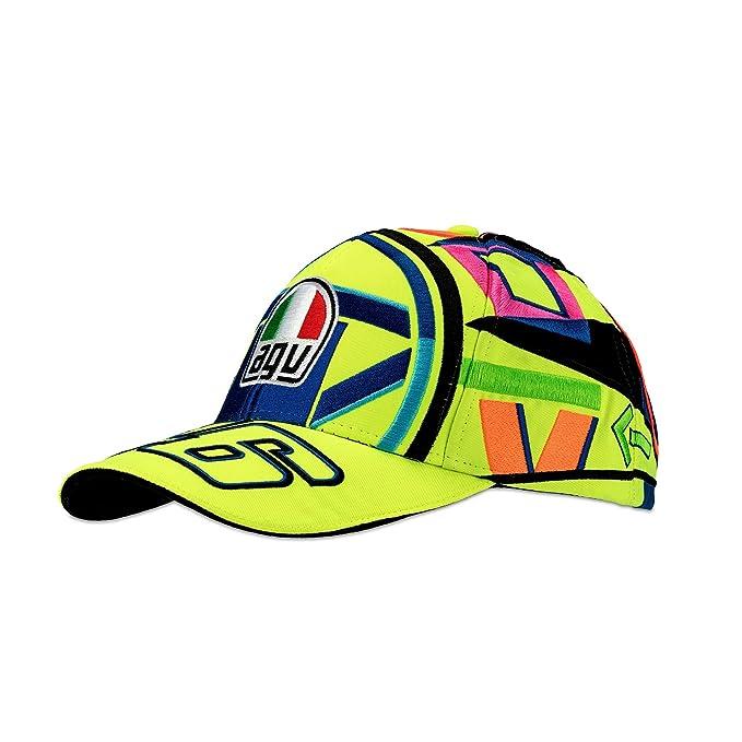 VR46 VR|46 Valentino Rossi Niños Gorra de béisbol - Casco Agv Diseño - Gorra: Amazon.es: Deportes y aire libre