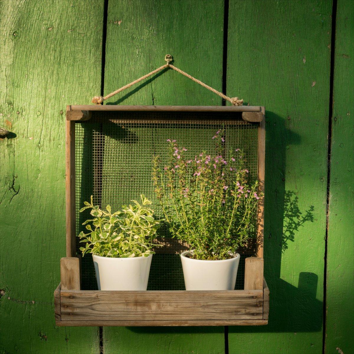 Ripiano per giardino rustico in un colino + + Ideale per ✿ ✿ di vasi + + per interni ed esterni DieStadtgärtner