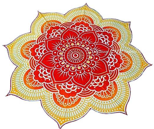 duework grande redondo Lotus indio Mandala Hippie toalla de ...