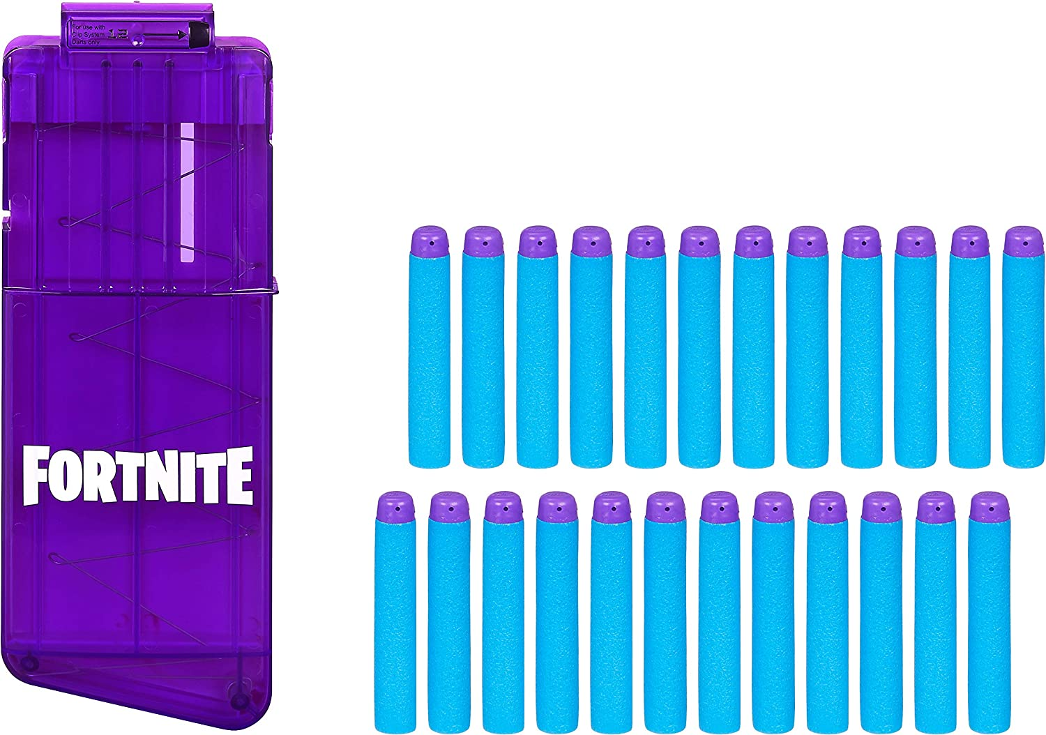 NERF Fortnite 12-Dart Clip & 24 Official Elite Darts -- Refill Pack for Fortnite Elite Blasters -- for Youth, Teens, Adults