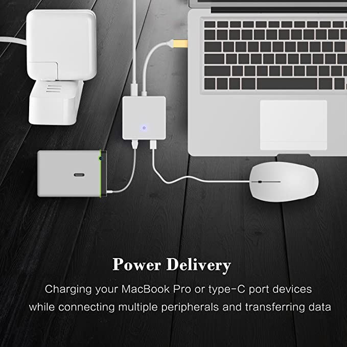 2 USB 3.0 Ports gold Smartloong 6-in-1 USB C Adapter with RJ45 1Gbps Ethernet USB C Hub Adapter Power delivery SD//TF//MicroSD Card Reader for MacBook and USB C Laptops