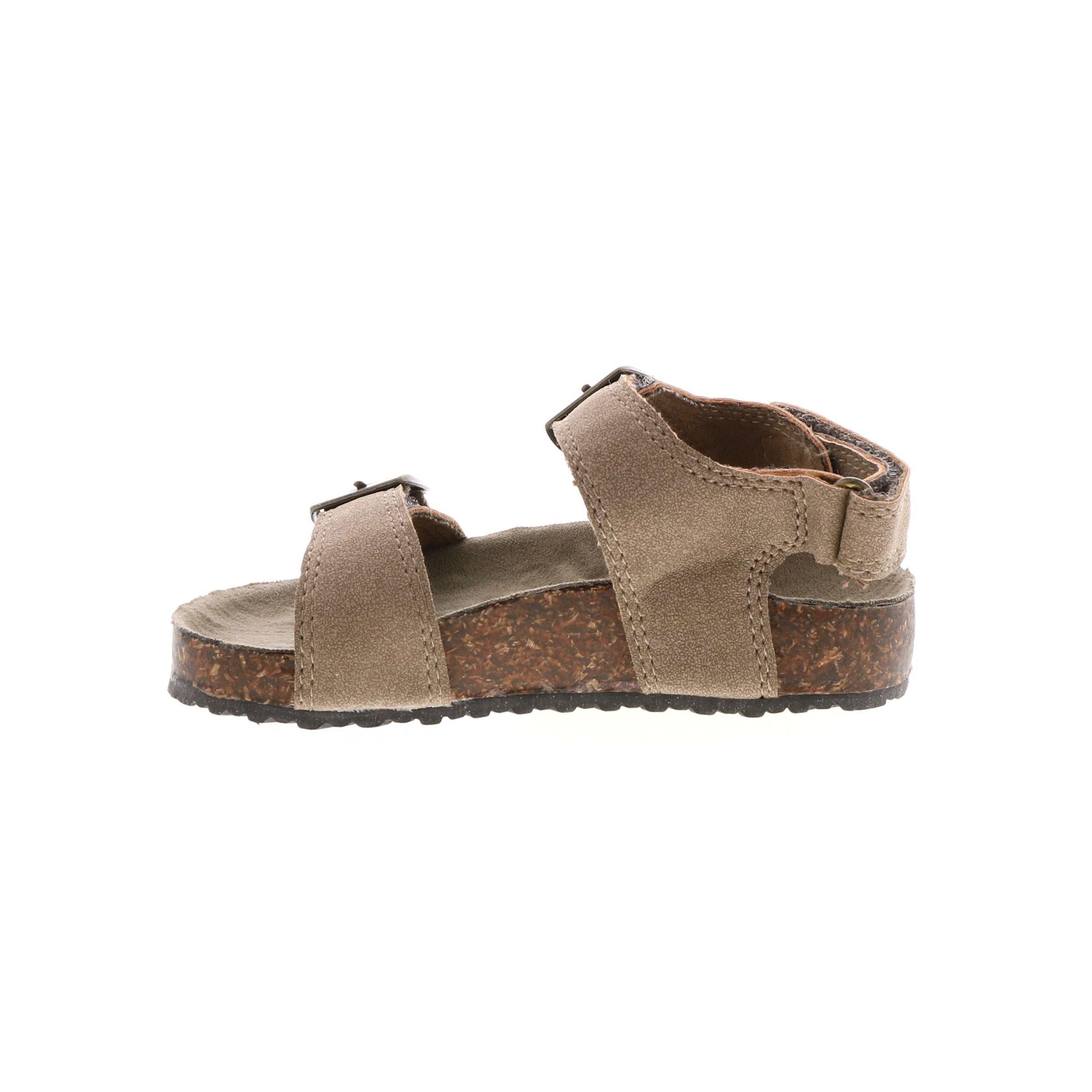 carter's Boys' Aldus Birkenstock Slide Sandal, Brown, 7 M US Toddler
