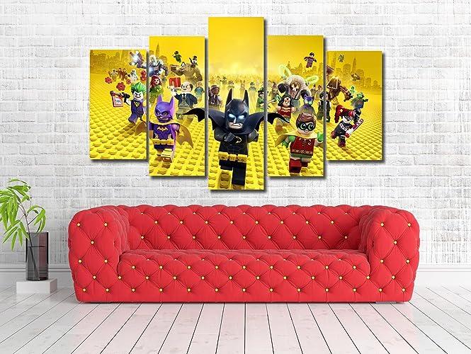 Amazon.com: Lego Batman Movie Framed Canvas Print - Wall Art - Multi ...