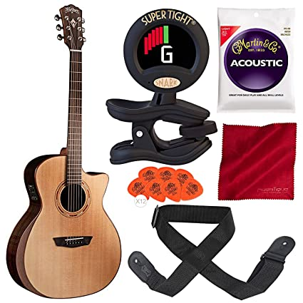 Washburn WCG20SCE Comfort Series - Guitarra acústica con afinador ...