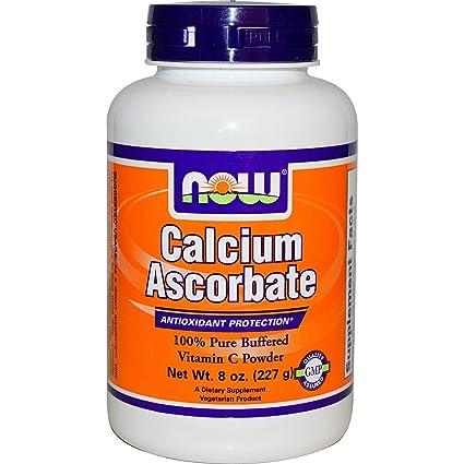 El ascorbato de calcio, 100% puro tamponada vitamina C en polvo, a 8