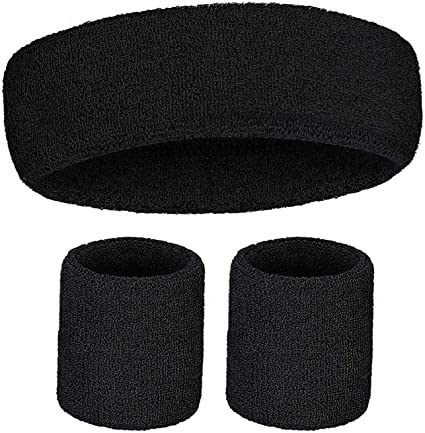 Running Athletic Sports JZZJ 6 Pack Sports Wristbands Absorbent Sweatbands for Football Basketball