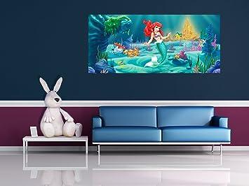 Disney Princesse Poster Geant Horizontal Papier Peint Petite Sirene