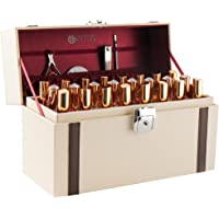 JackCubeDesign MK406 - Leather Nail Polish Storage Box with Handle