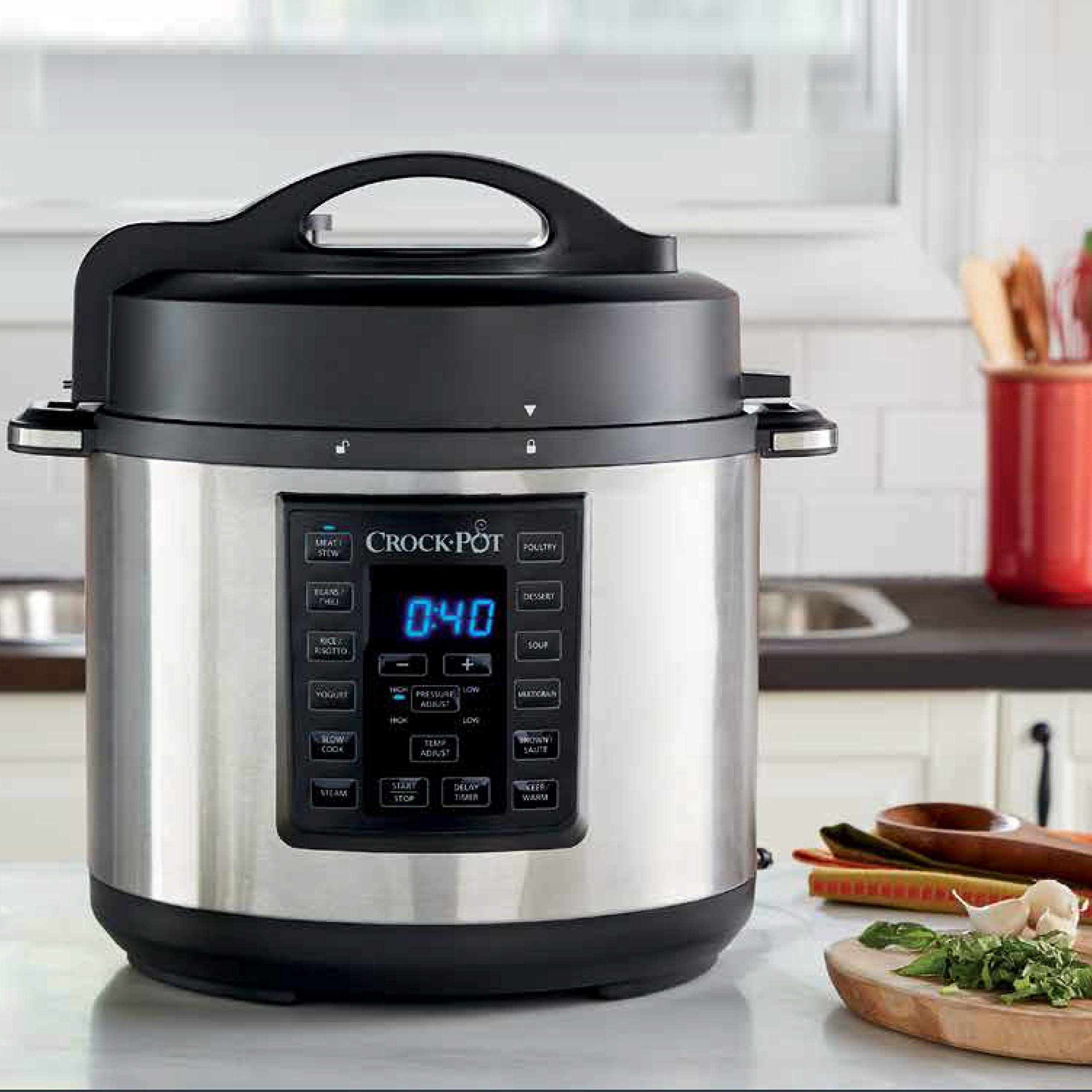 Crock-Pot 6 Qt 8-in-1 Multi-Use Express Crock Programmable Slow Cooker, Pressure Cooker, Sauté, and Steamer, Stainless Steel (SCCPPC600-V1) by Crock-Pot (Image #6)